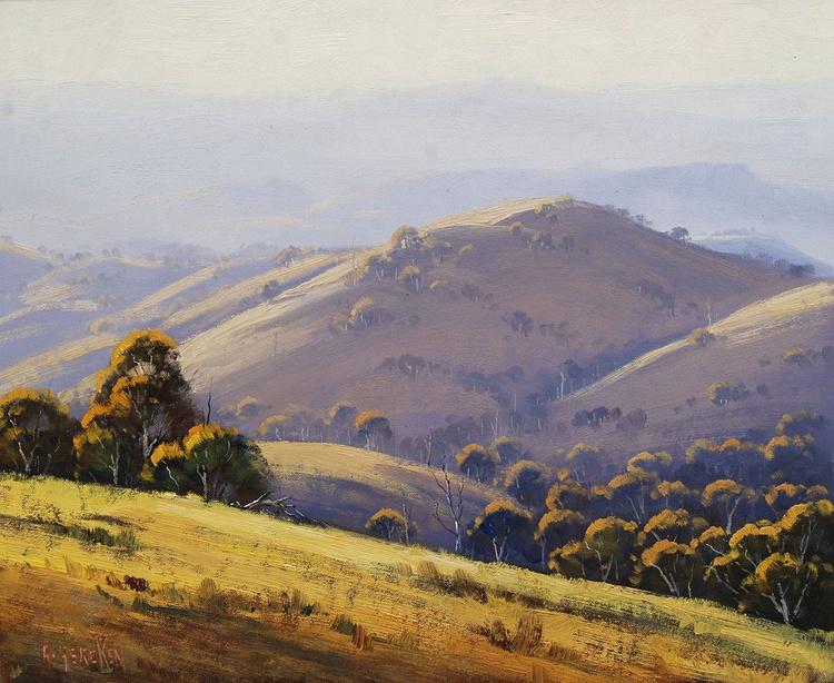 Morning Lit Hillscape  Lithgow - Image 0
