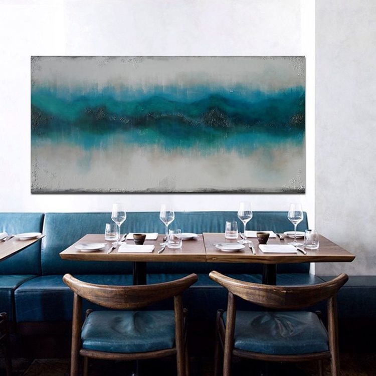 blue borders (140 x 70 cm) - Image 0