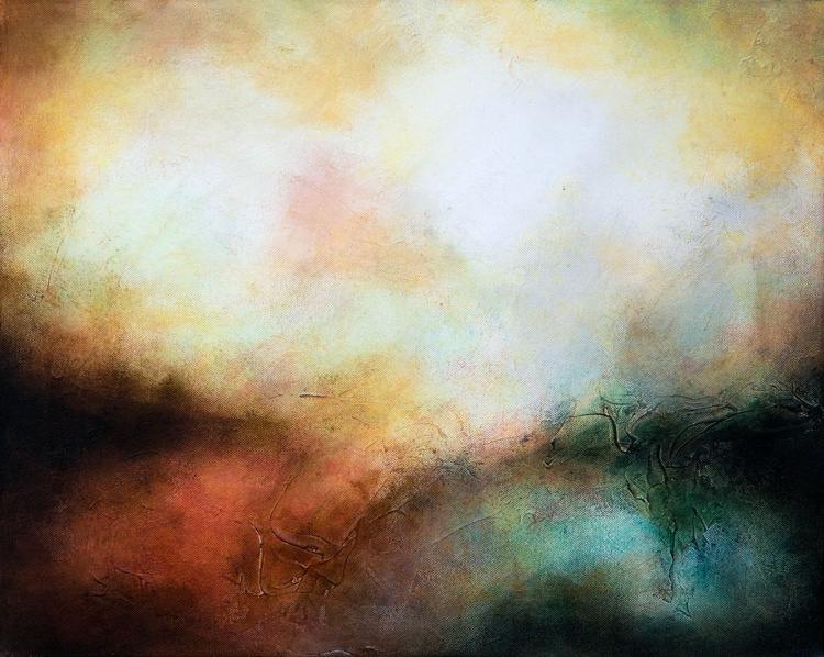 """""""Arcus"""", abstract painting, 50x40x2 cm, ready to hang - Image 0"""