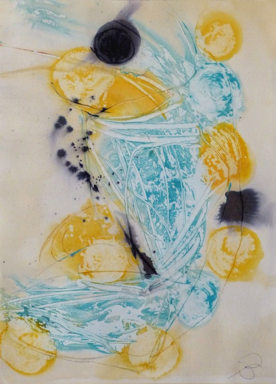 Logos #22 , Acrylic on paper 29x41 cm (budget offer) - Image 0