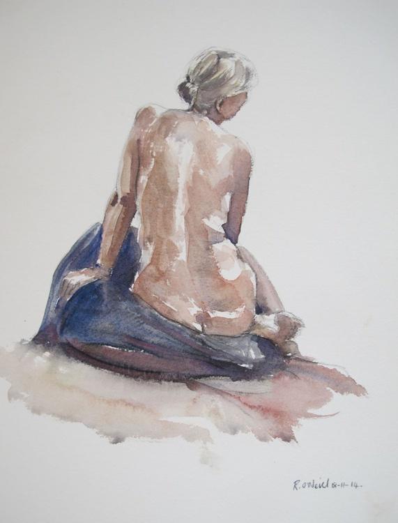 seated female nude/reclining male nude - Image 0