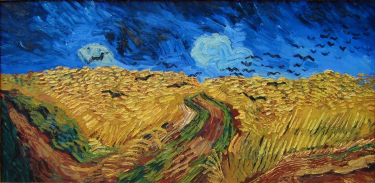 Hommage a great Vincent : Wheatfield with Crows - Image 0