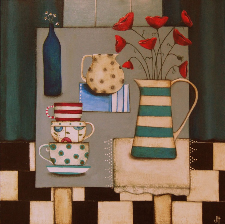 Scenes From A Kelvingrove Kitchen (with poppies and daisies).. - Image 0