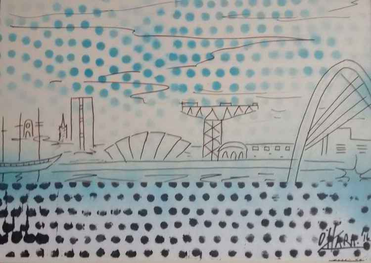 River Clyde with dots.. -