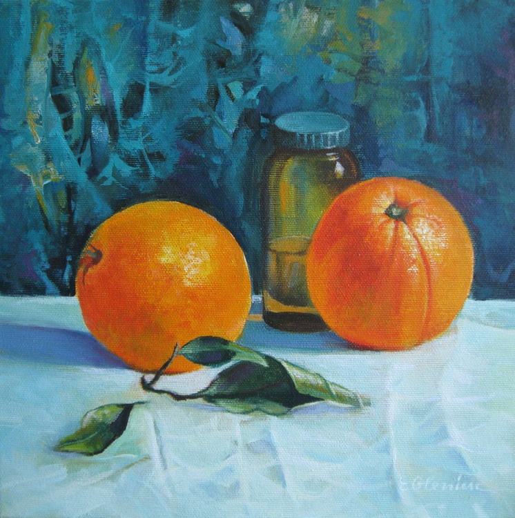 Still life with oranges - Image 0