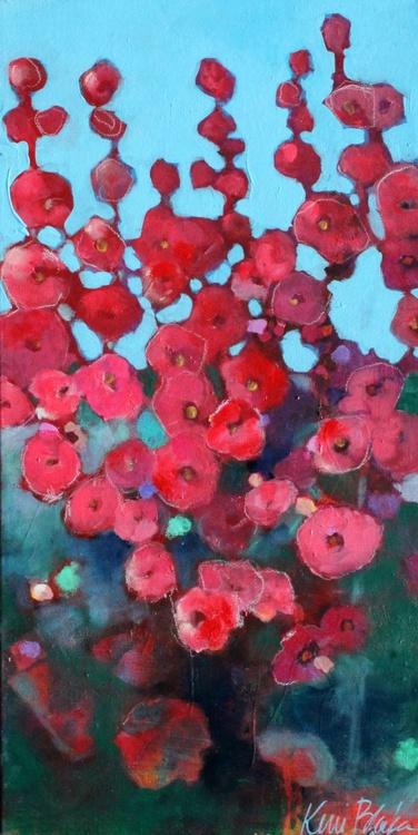 Red Hollyhocks - Image 0