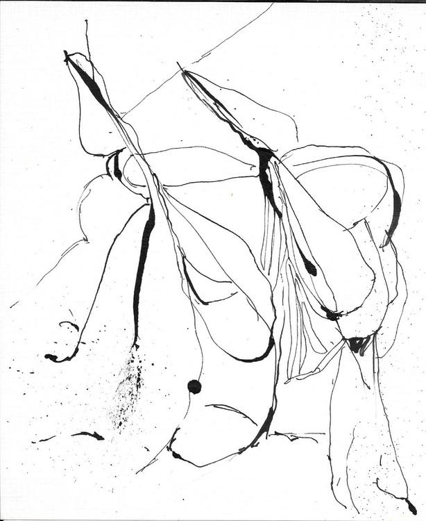 Surrealist Drawing 20, 17x21 cm - Image 0