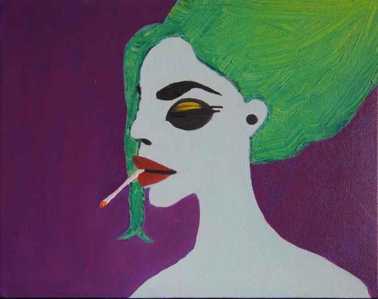 Smoking mermaid -