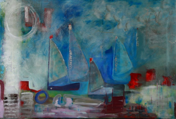 """""""FINAL DESTINATION""""  I believe in dreams Large Original Abstract Painting 40x60 - Image 0"""