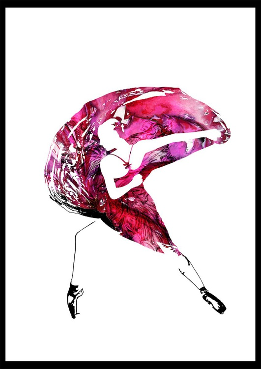 "Dancer in pink /  17.7"" x 12.6"". - Image 0"