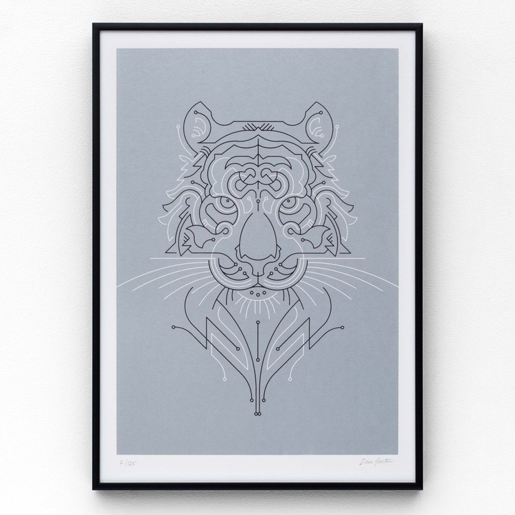 Tiger A3 limited edition screen print - Image 0