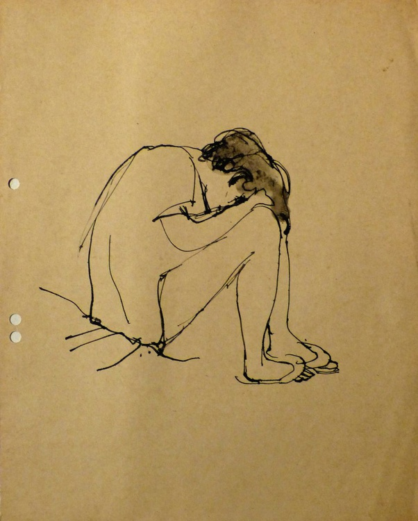 She is tired, 23x27 cm - Image 0