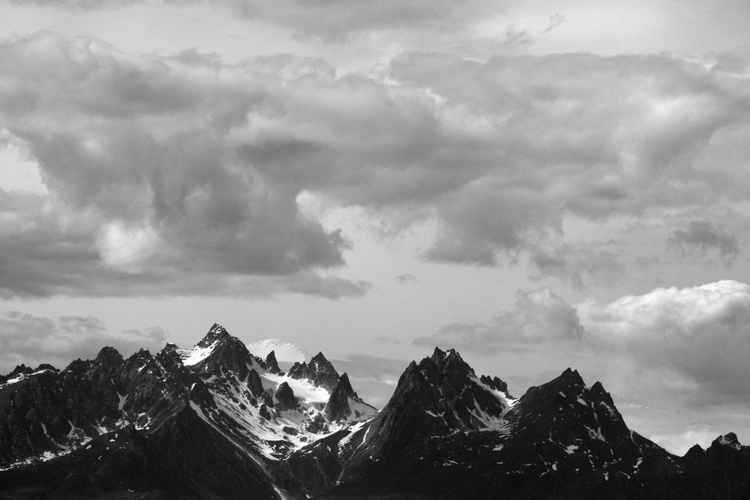 Grand Takosha and Mt. Foraker, Alaska Range -