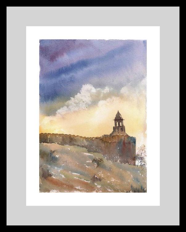 """Amer Fort Jaipur(  8.25""""x11.75"""") Free Shipping - Image 0"""