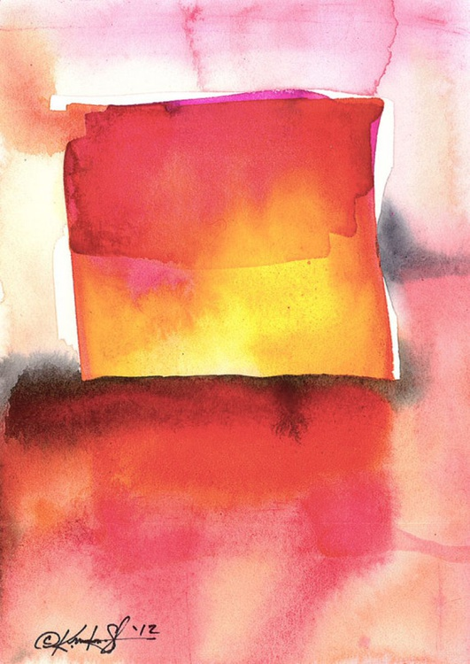 Watercolor Abstraction No. 210 - Image 0