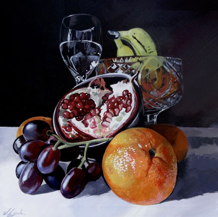 Still Life Fruit And Glass - Image 0