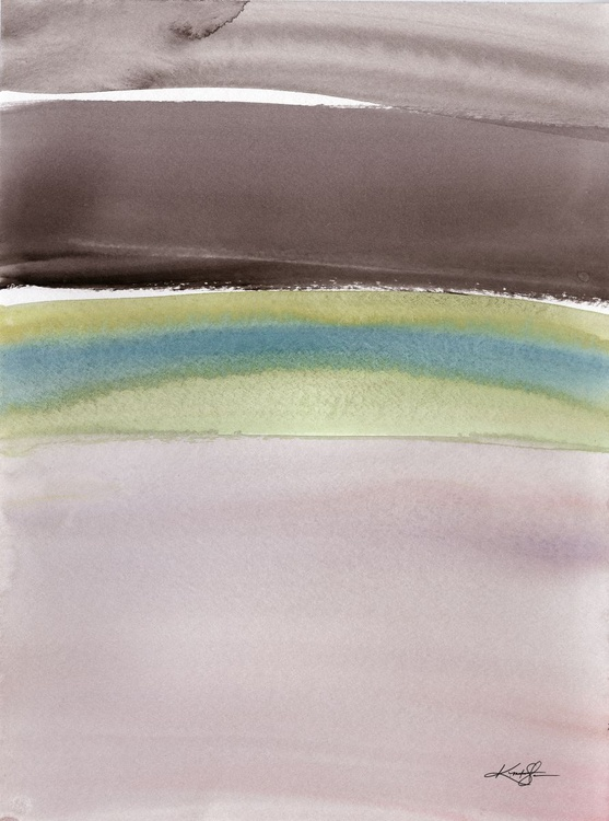 Serene Moments 1 - Abstract Watercolor Painting - Image 0