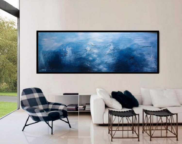 Seaside Textured abstract painting - Image 0