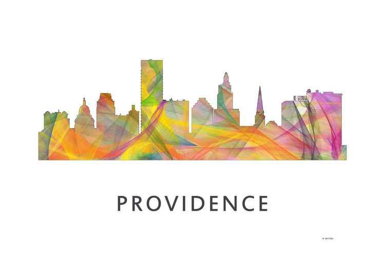 Providence Rhode Island Skyline WB1 -