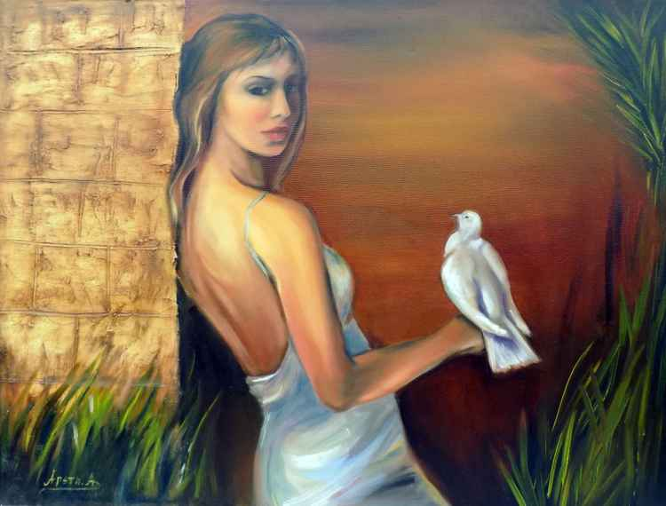 The woman and the dove