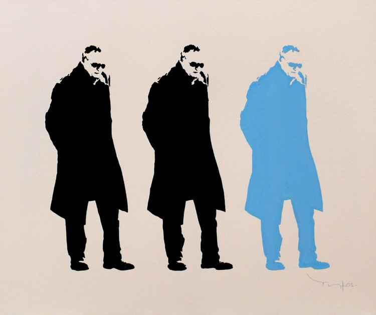 Three men having Thought 02 -
