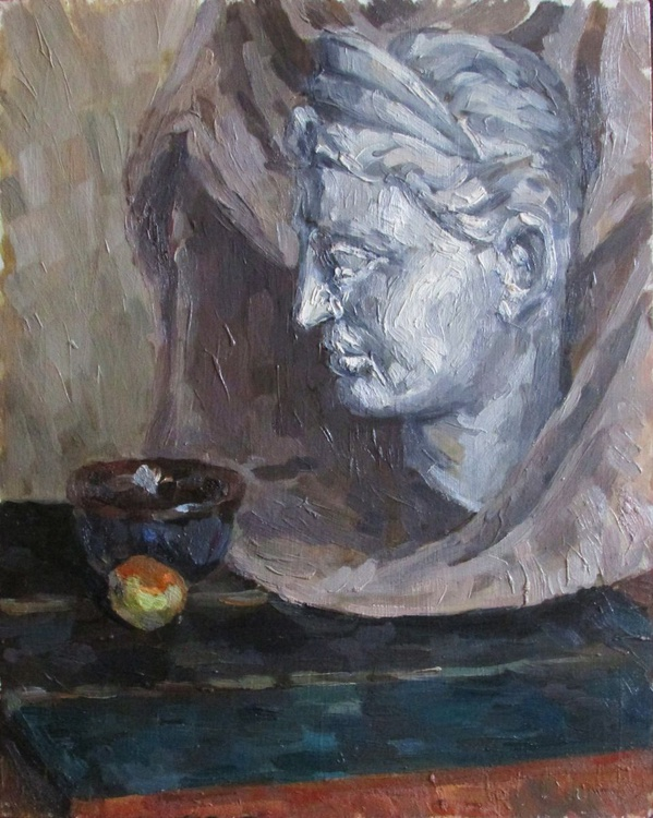 Still life with antique sculpture - Image 0