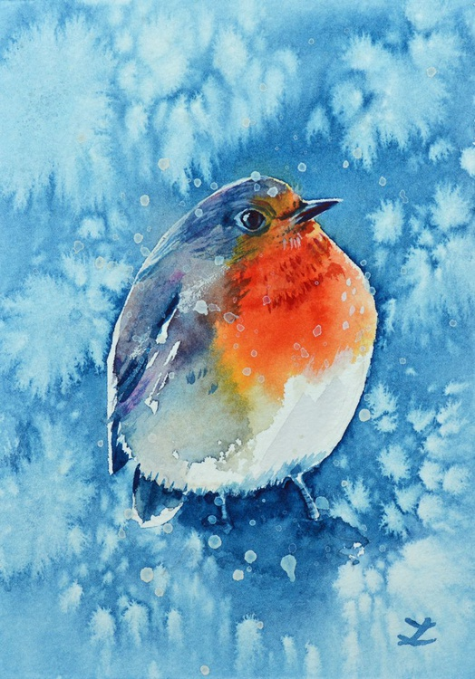 Robin in the Snow - Image 0