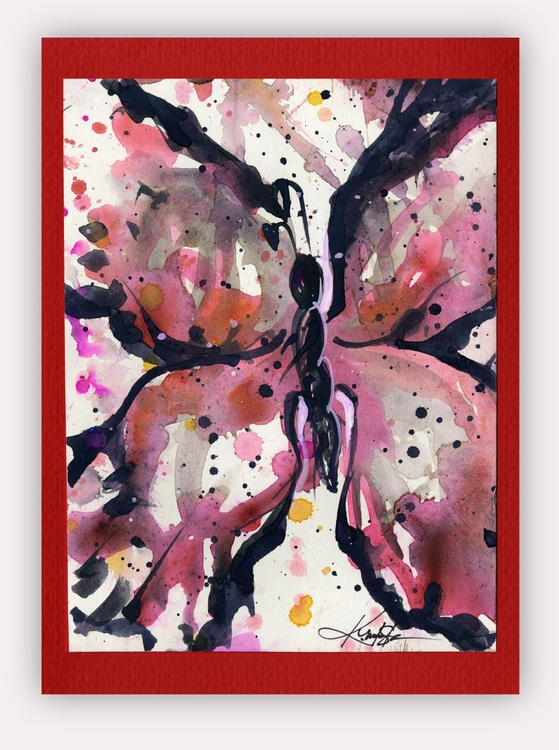 Butterfly Watercolor Painting - Butterfly Delight No. 8 - Image 0