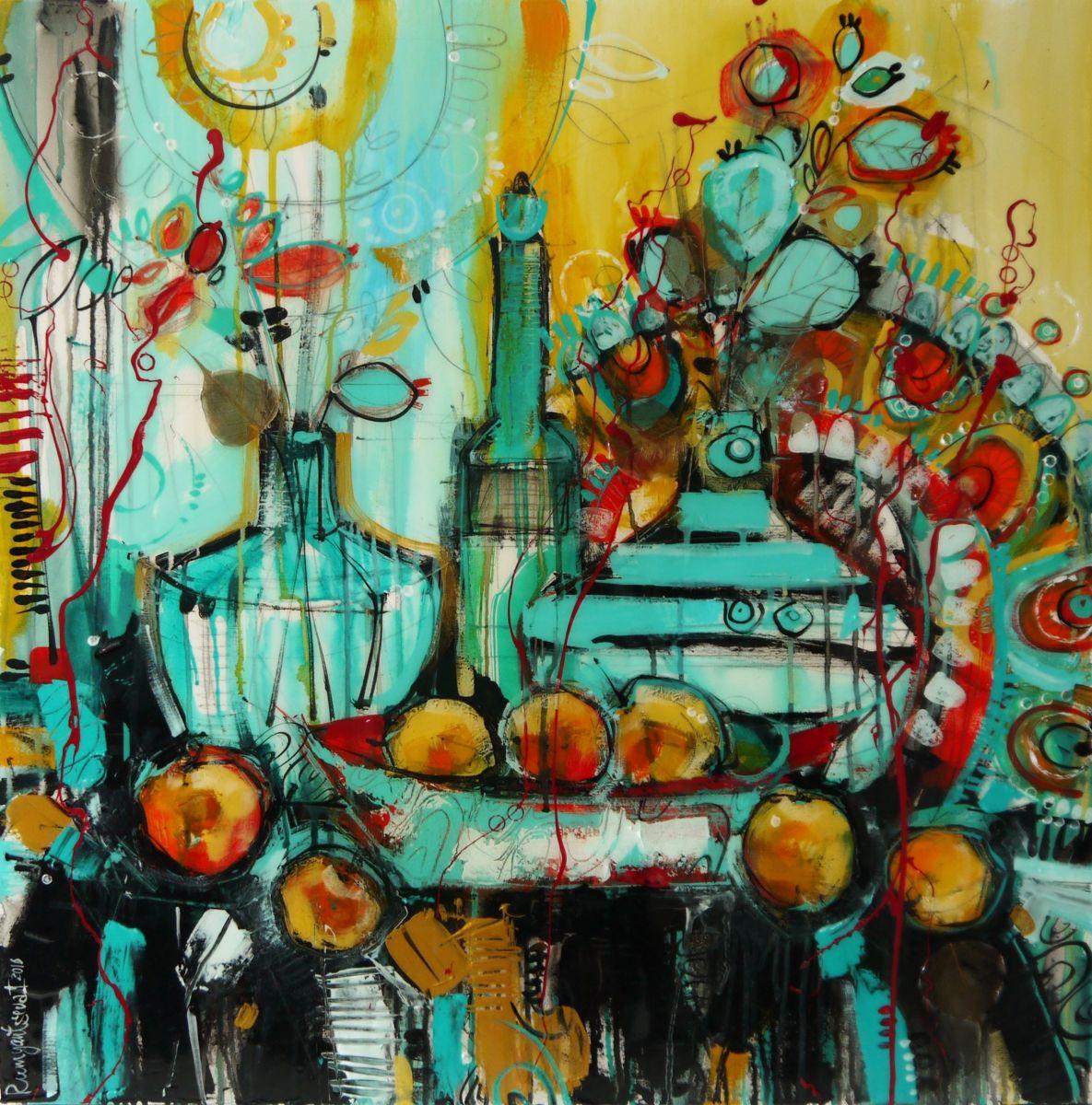 Fruit Table 2016 Acrylic Painting By Irina Rumyantseva