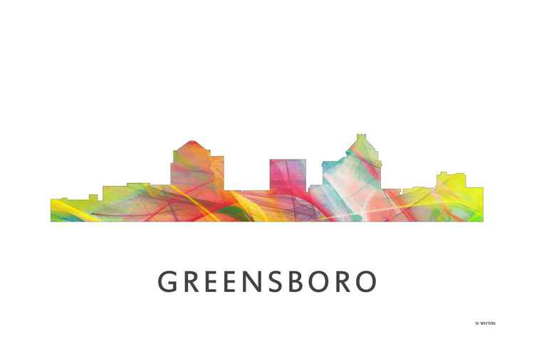 Greensboro North Carolina Skyline WB1 -