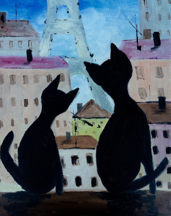 Cats on the roof in Paris - Image 0