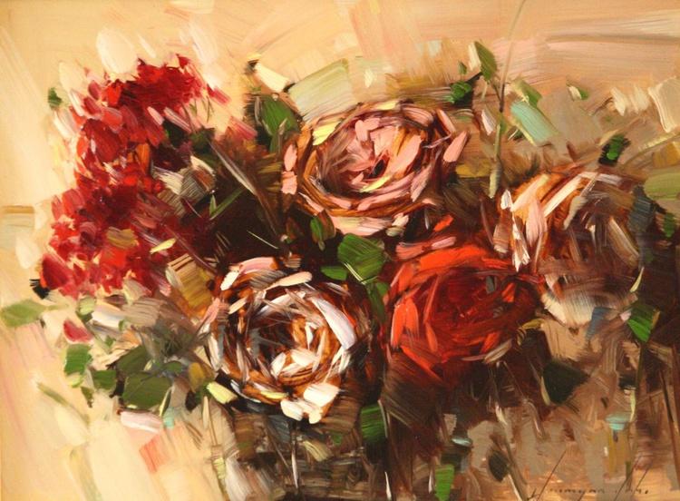 BOUQUET OF ROSES ORIGINAL PAINTING - Image 0