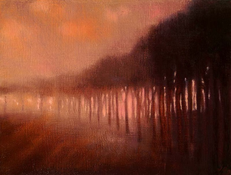 Avenue of Trees in the Mist - Image 0