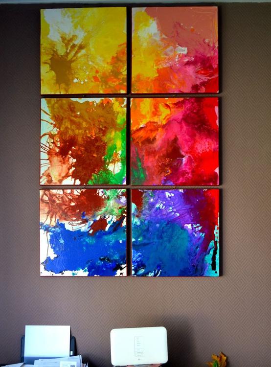Big Bang Energy, Big Painting - Large Painting Ready to Hang, Hotel Wall Decoration - Image 0