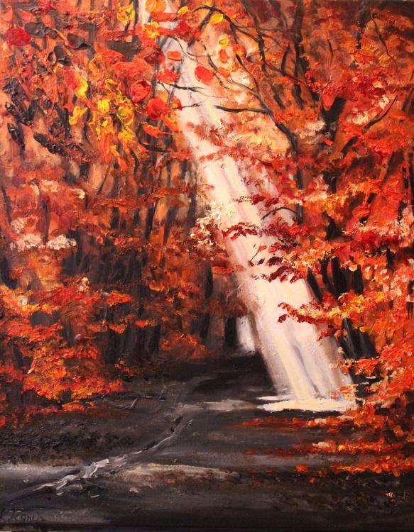 Autumn path with sunlight. - Image 0