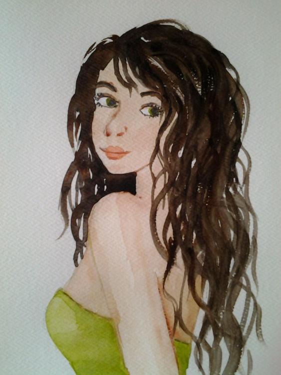 """INNOCENT"", Girl, Woman, Figure, Portrait, Original Watercolour - Image 0"