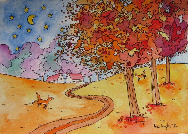 Autumn foxes - Image 0