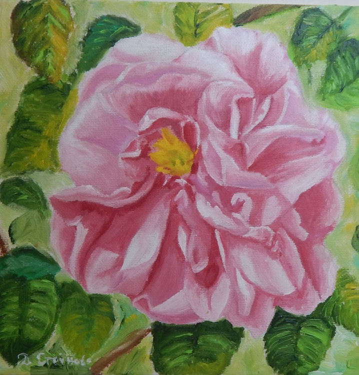 """""""Lovely little rose 2""""-original oil painting rose wall art home decor ready to hang - Image 0"""