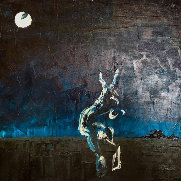 Hare in Moonlight - Image 0