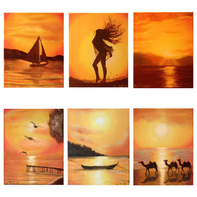 Longing for the Sun 6 paintings - Image 0
