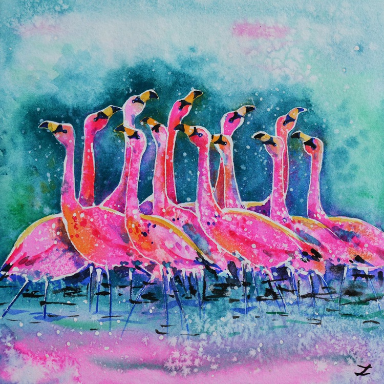 James's Flamingos - Image 0