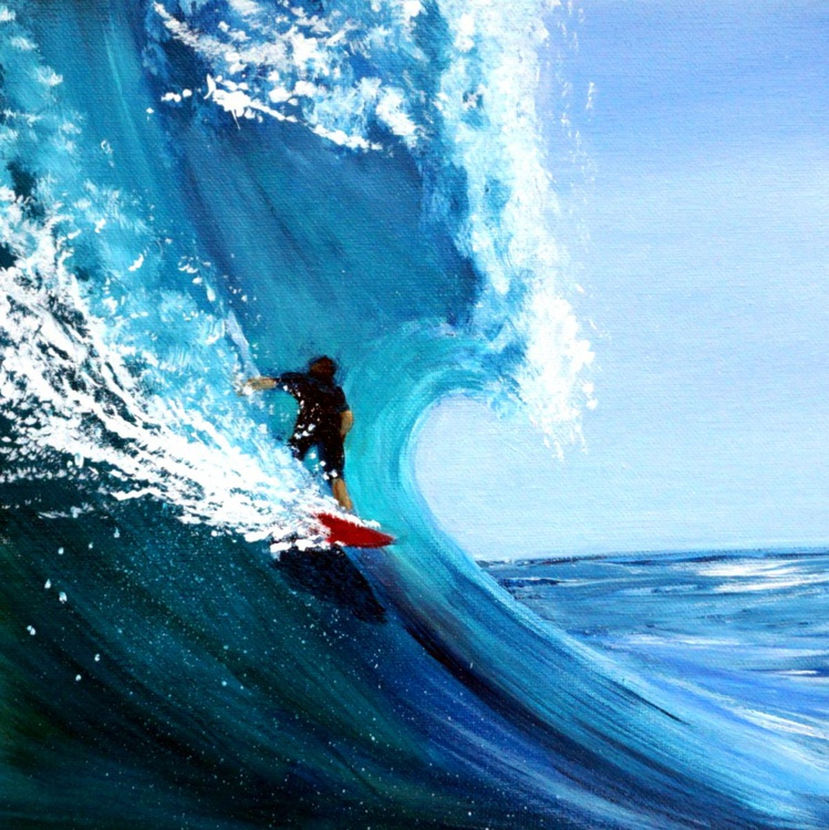 Blue Wave Red Board - Image 0