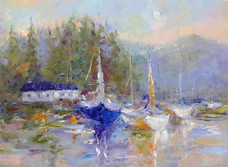 painting *Путешествуй, встречай облака...*Oil on canvas 80х60 cm -