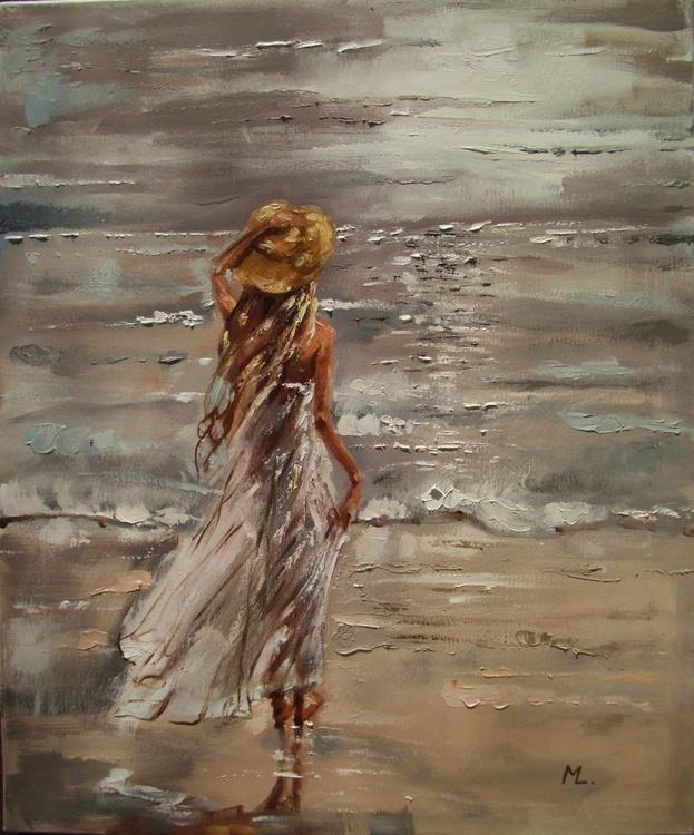 """ This Horizon ... "" SEA original painting palette knife GIFT MODERN URBAN ART OFFICE ART DECOR HOME DECOR GIFT IDEA - Image 0"