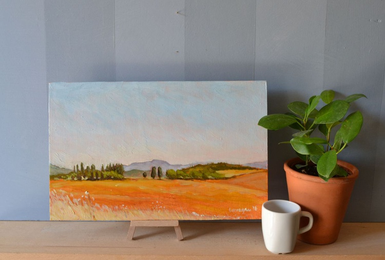 The View from the Villa in Porchiano del Monte in Umbria Italy Plein Air Italian Landscape Painting - Image 0