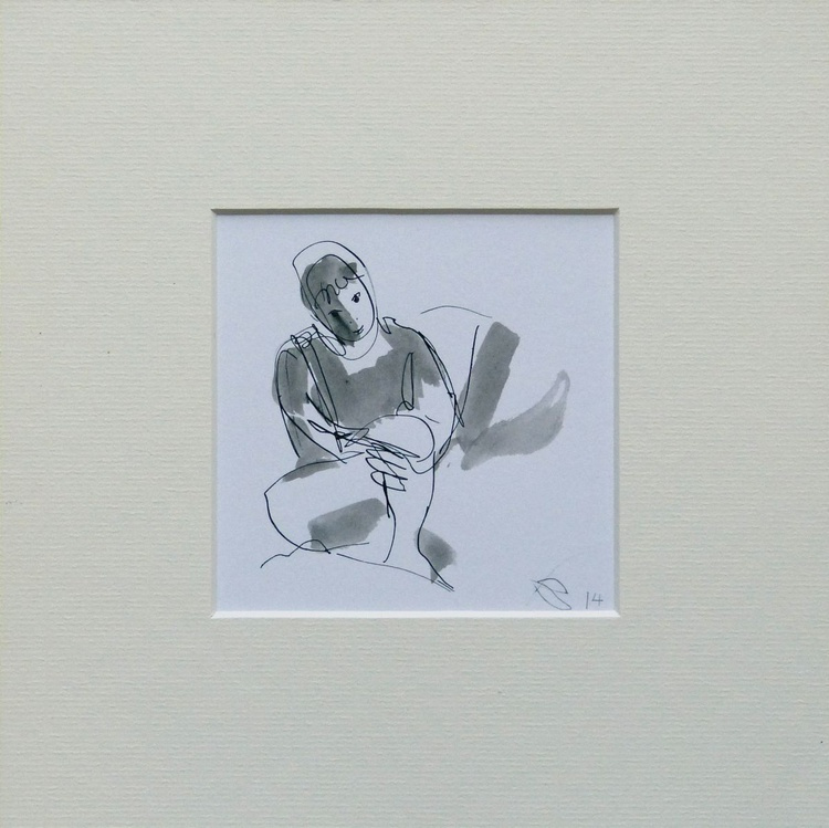 Little Woman, framed and ready to hang, 20x20 cm - Image 0