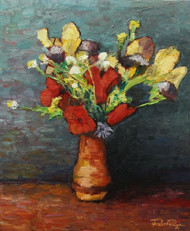 Poppies and Yellow Irises - Image 0