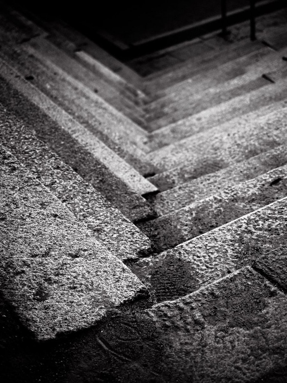Nijō Castle Stairs II, from the Japan Notebook. - Image 0
