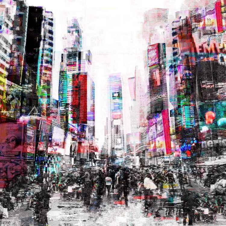 city I b- print on canvas -