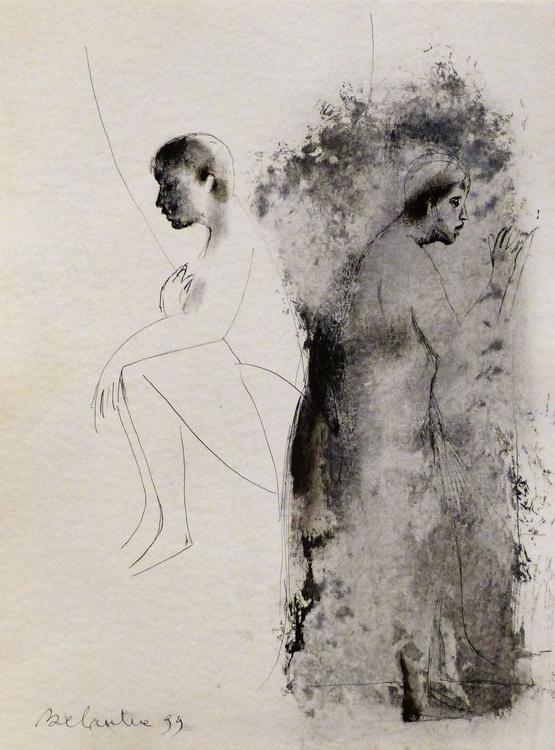 Strange couple , 35x47 cm - Image 0